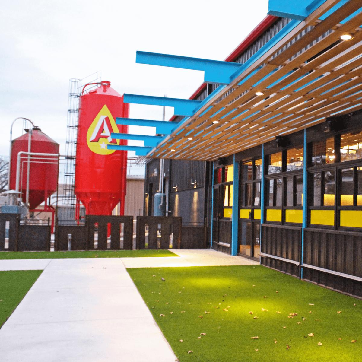 Austin Beerworks taproom patio