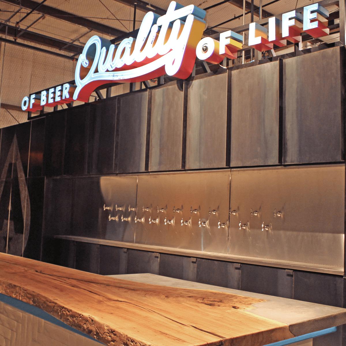 Austin Beerworks taproom bar