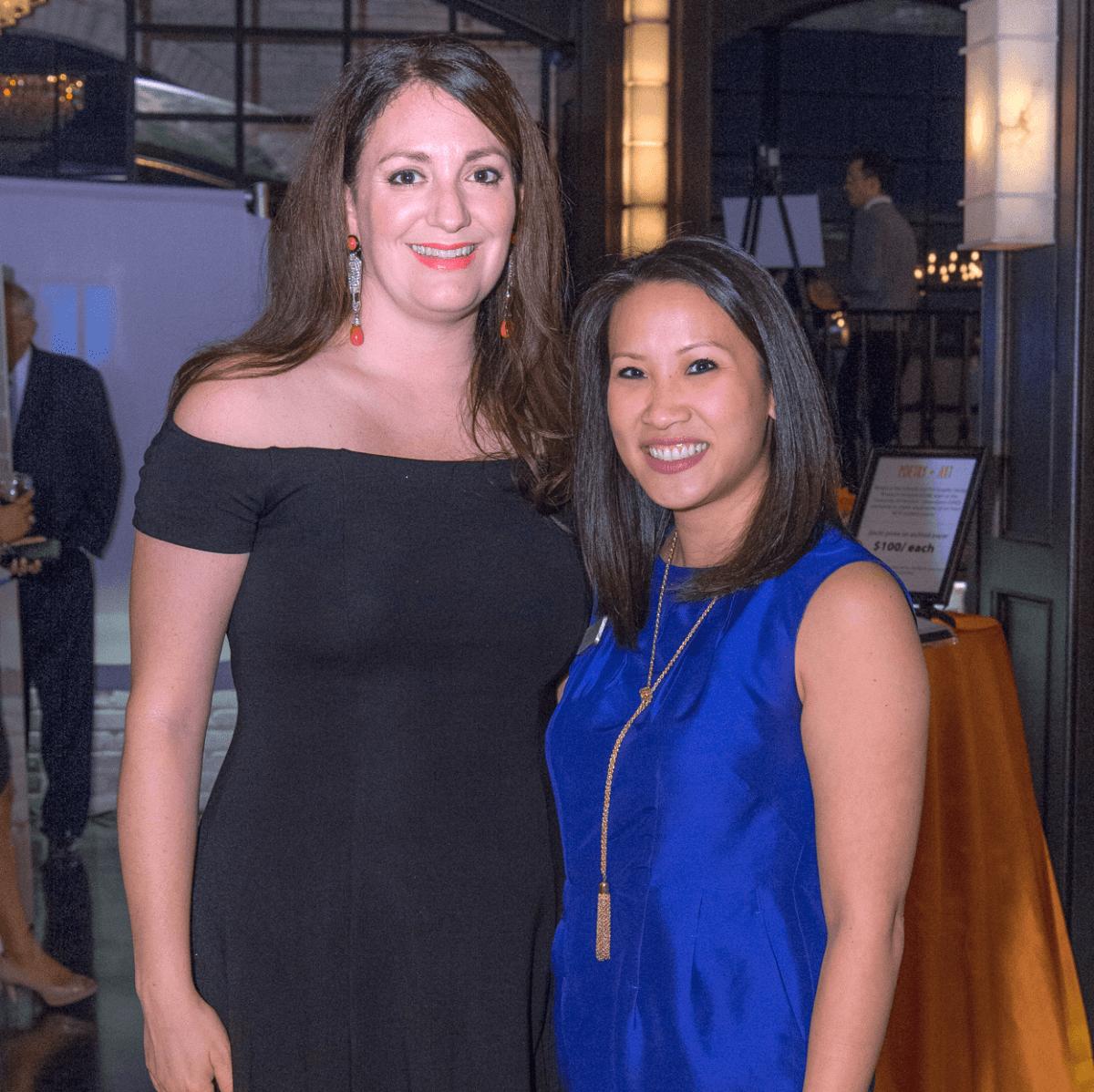 Houston, Writers in the Schools gala, Dec 2016, Mitra Woody, Julie Tran