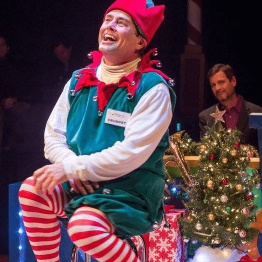 Santaland Diaries elf Crumpet at ZACH Theatre 2015