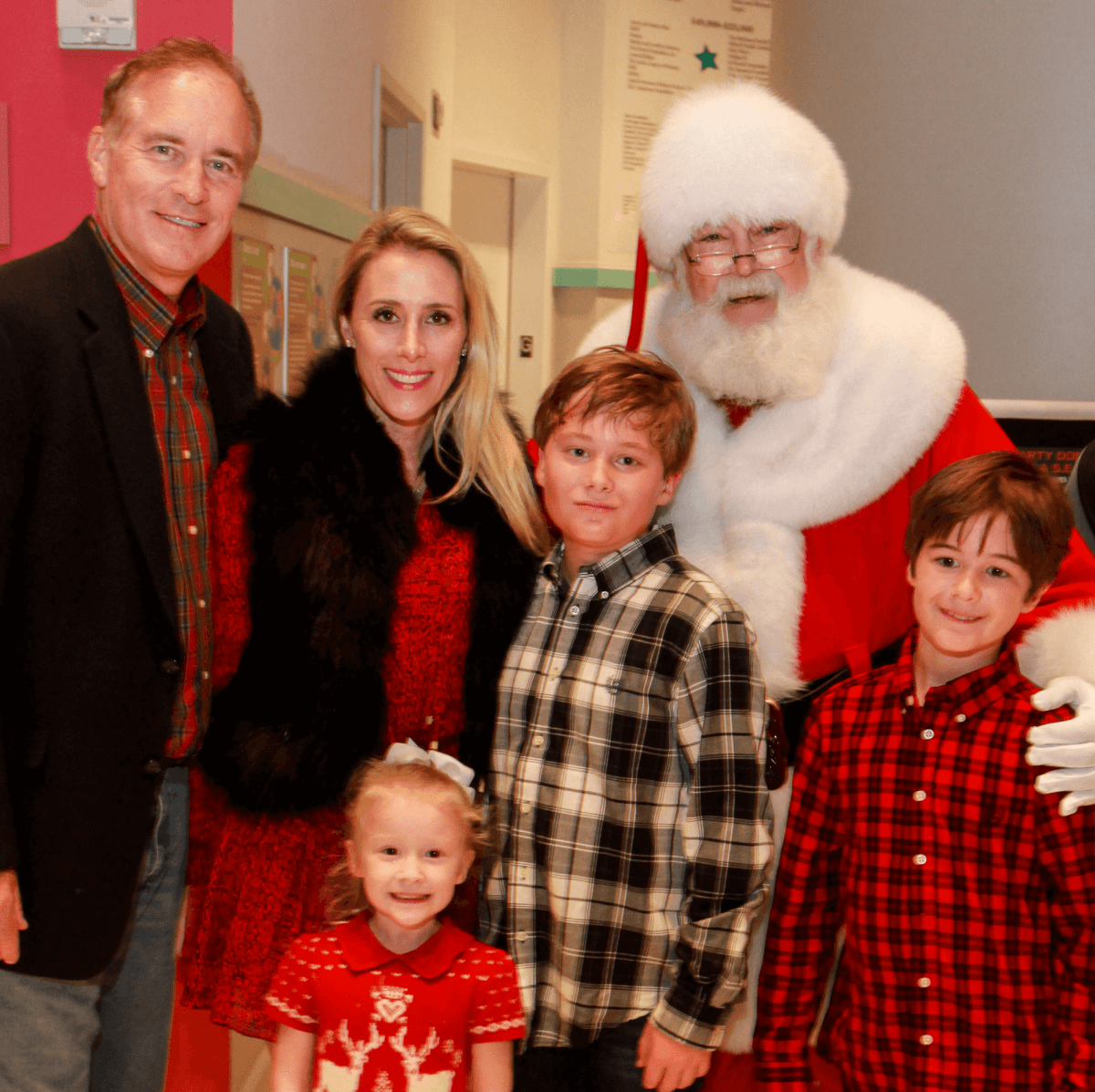 Children's Museum holiday party, Santa, Mark Sullivan, Christie Sullivan, children
