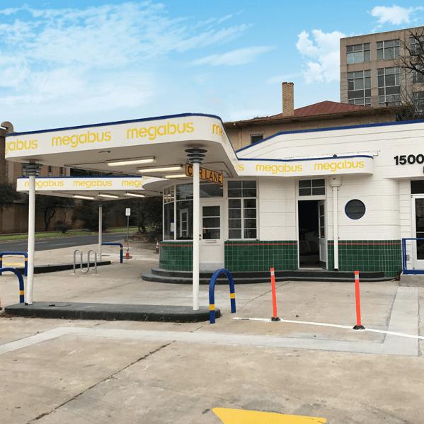 Megabus downtown Austin terminal 2017