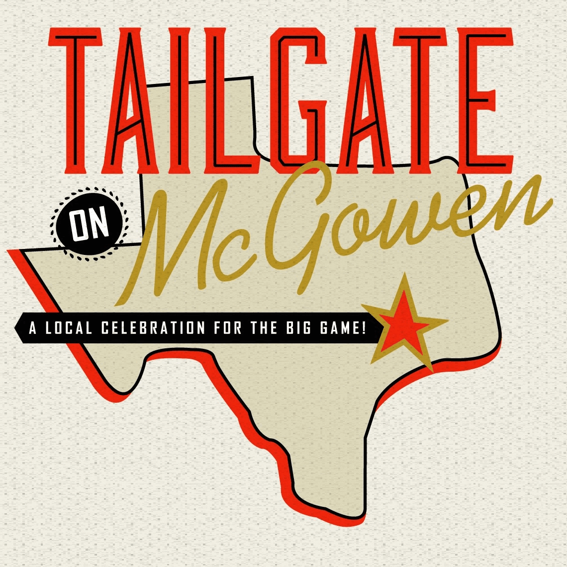 Tailgate on McGowen Super Bowl party logo