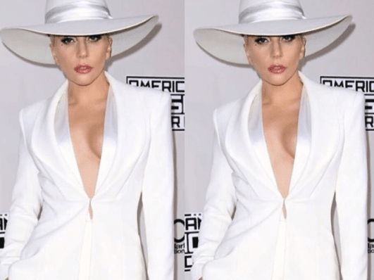 Lady Gaga in Brandon Maxwell at American Music Awards