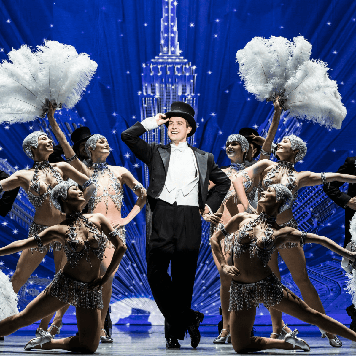 Nick Spangler and the touring cast of An American in Paris