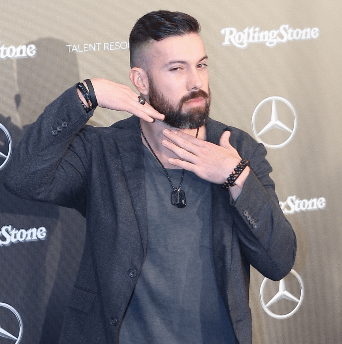 Andrew Sendejo at Rolling Stone party
