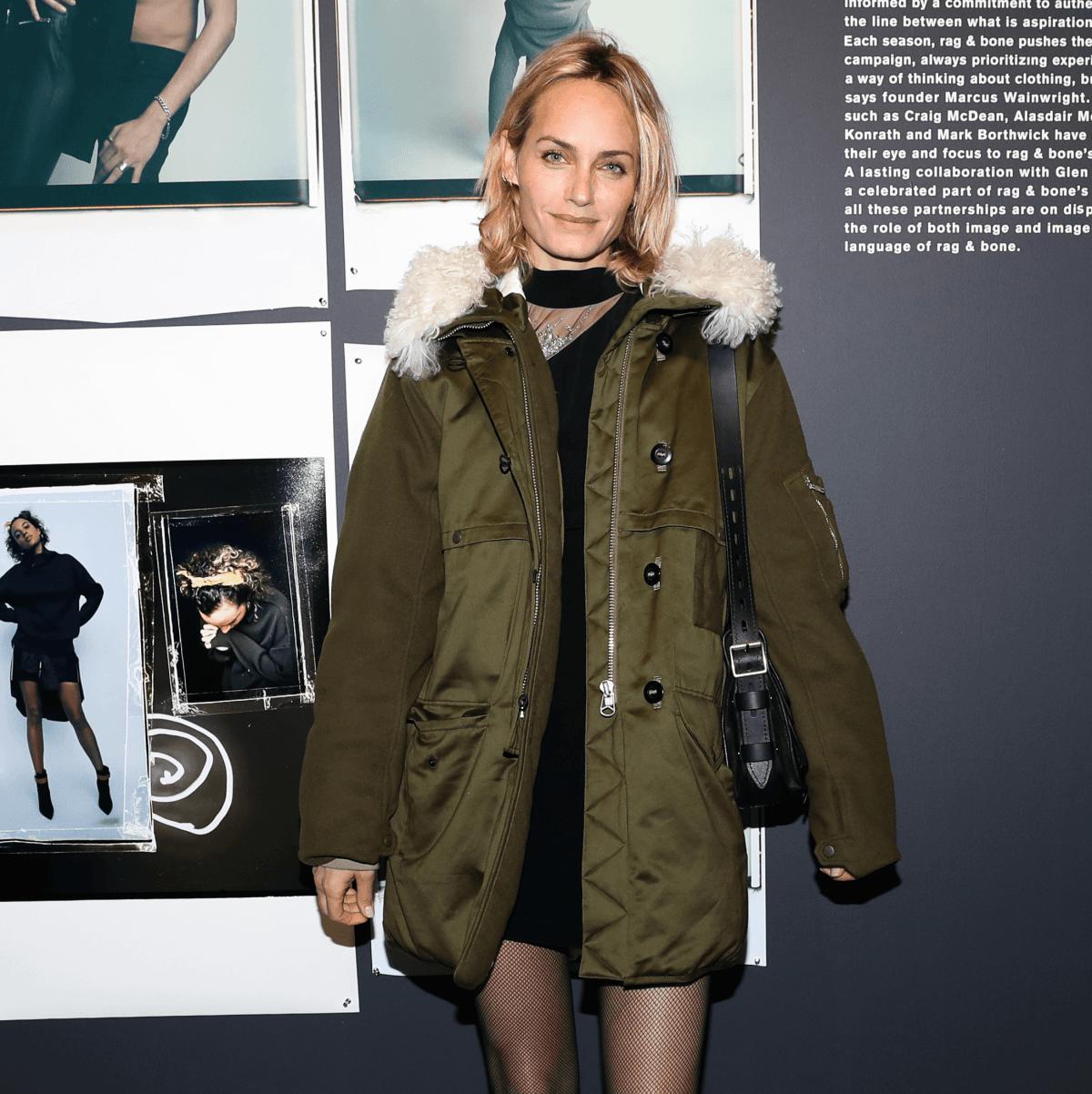 Amber Valletta at Rag & Bone exhibition party