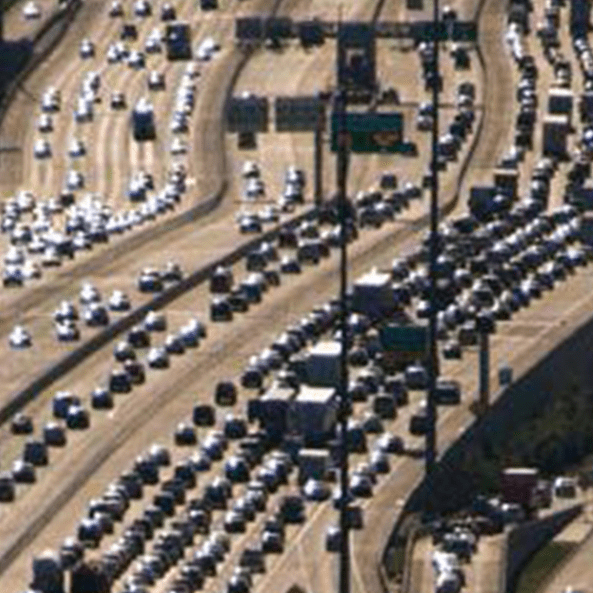 Katy Freeway highway Interstate 10 traffic traffic jam March 2014