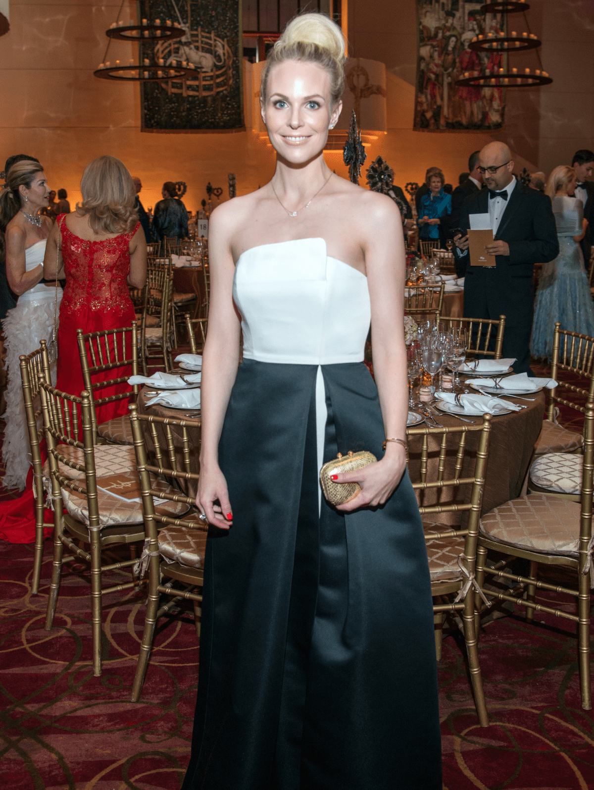 Houston, Ballet Ball gowns, Feb 2017, Kathleen Jennings in Halston Heritage