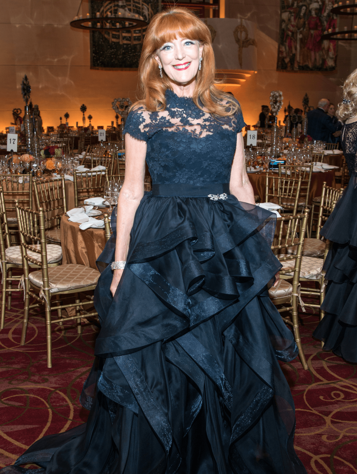 Houston, Ballet Ball gowns, Feb 2017, Gracia Cavnar in Reem Acra