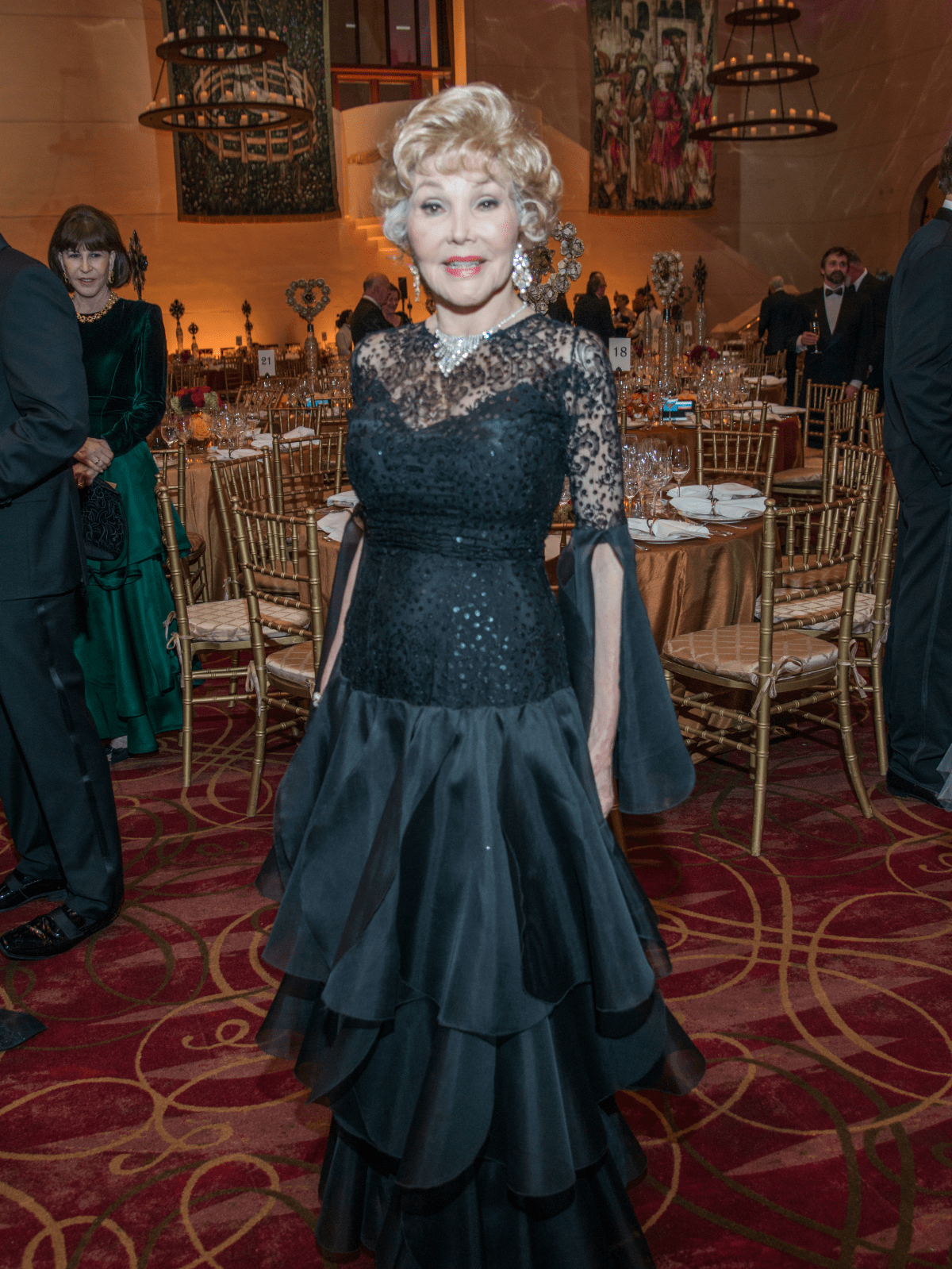 Houston, Ballet Ball gowns, Feb 2017, Joann King Herring in vintage Pierre Cardin