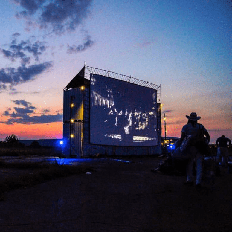 Blue Starlite Mini Urban Drive-in theater Austin