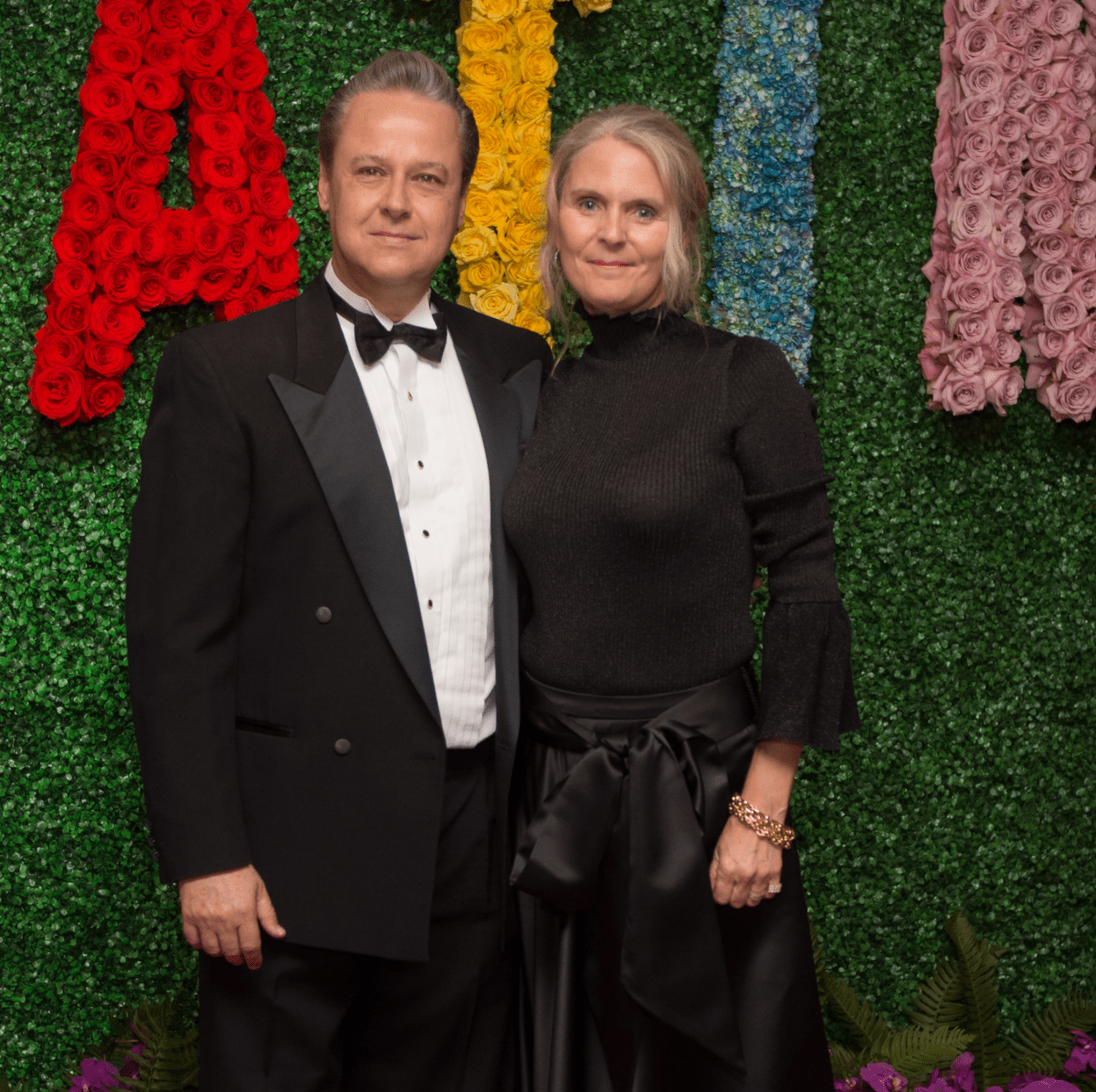 Arturo Barragan, Anne Barragan at Latin American Gala