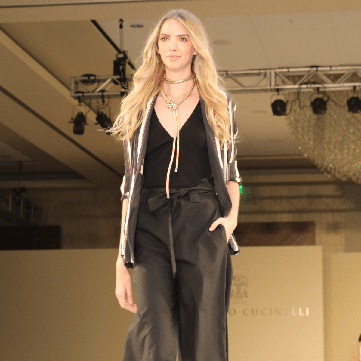 Brunello Cucinelli runway show at Best Dressed Luncheon 2017