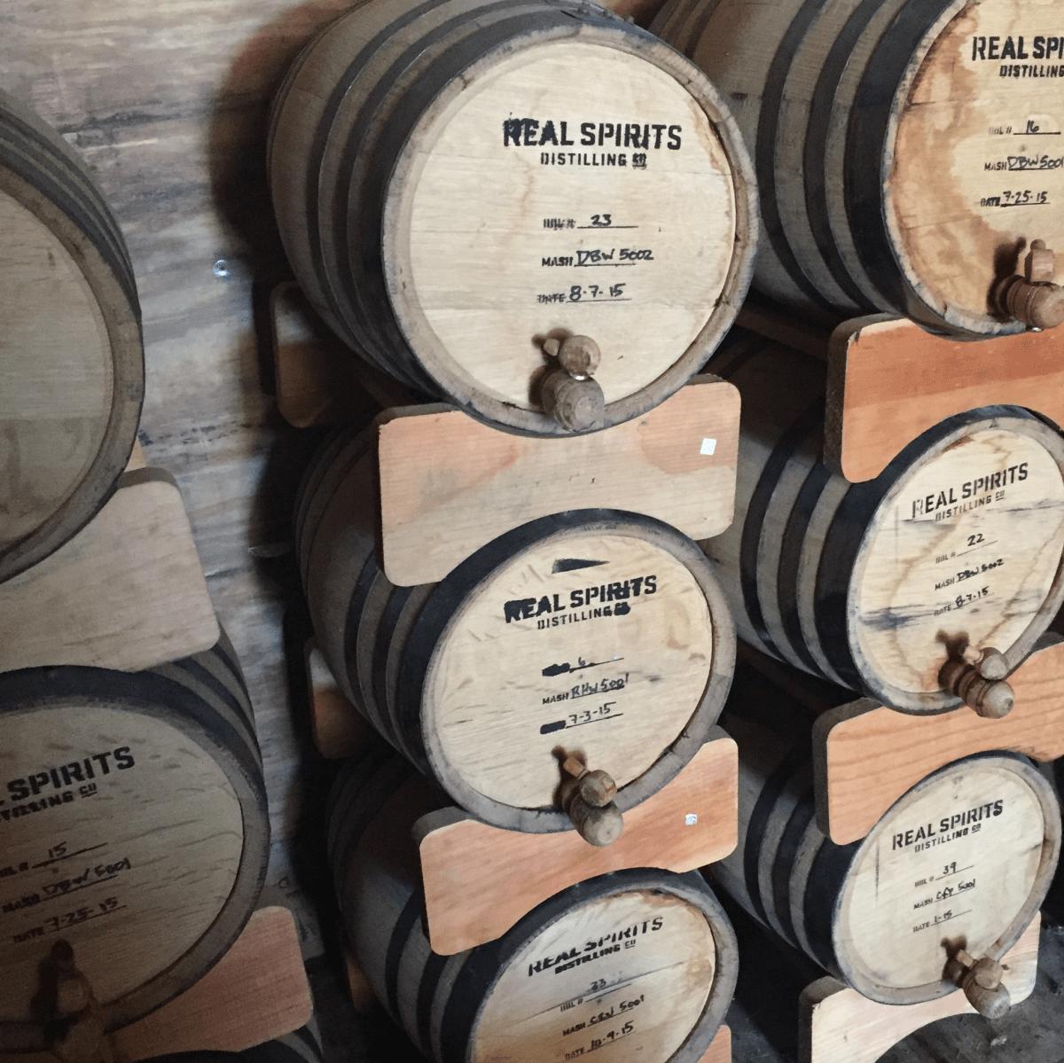 Real Spirits barrels