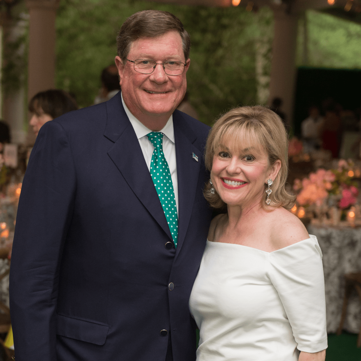 Jim and Sharyn Weaver at Bayou Bend Garden Party