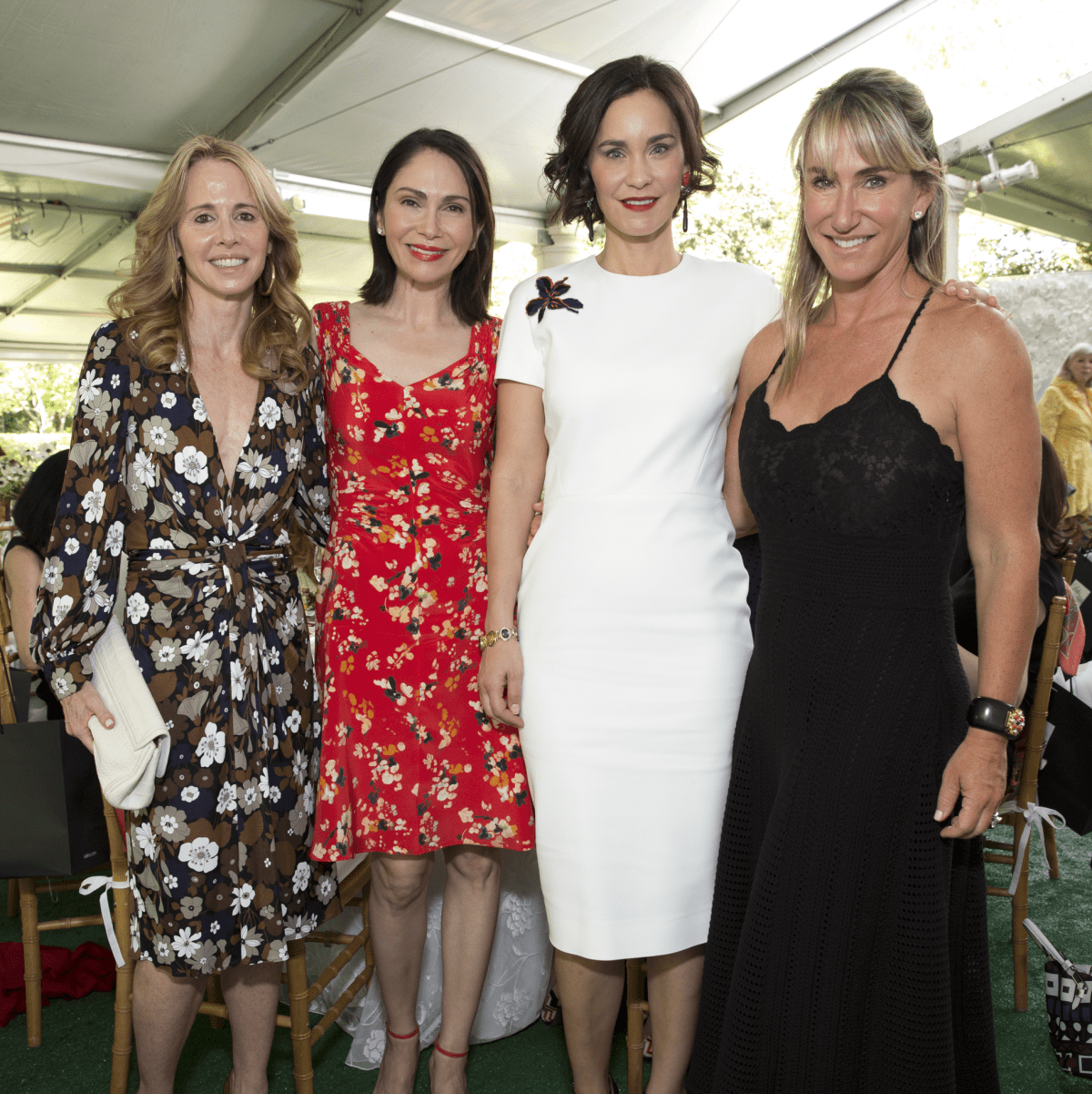 Martha Katherine Long; Jennifer Segal; Laura Arnold; Courtney Sarofim at Bayou Bend Oscar de la Renta
