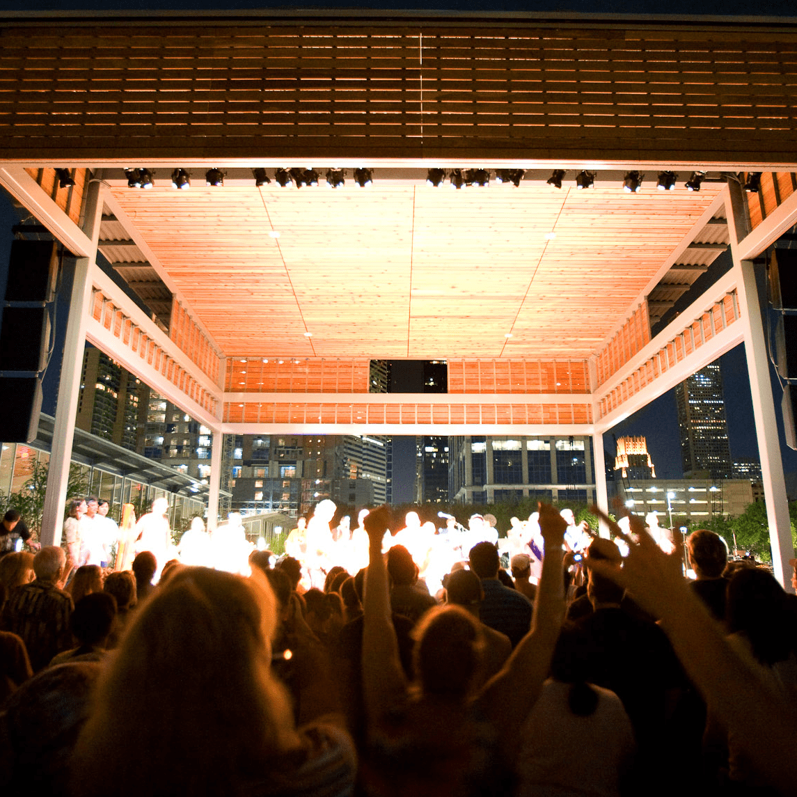 Discovery Green, Amphitheater,  Concert, stage
