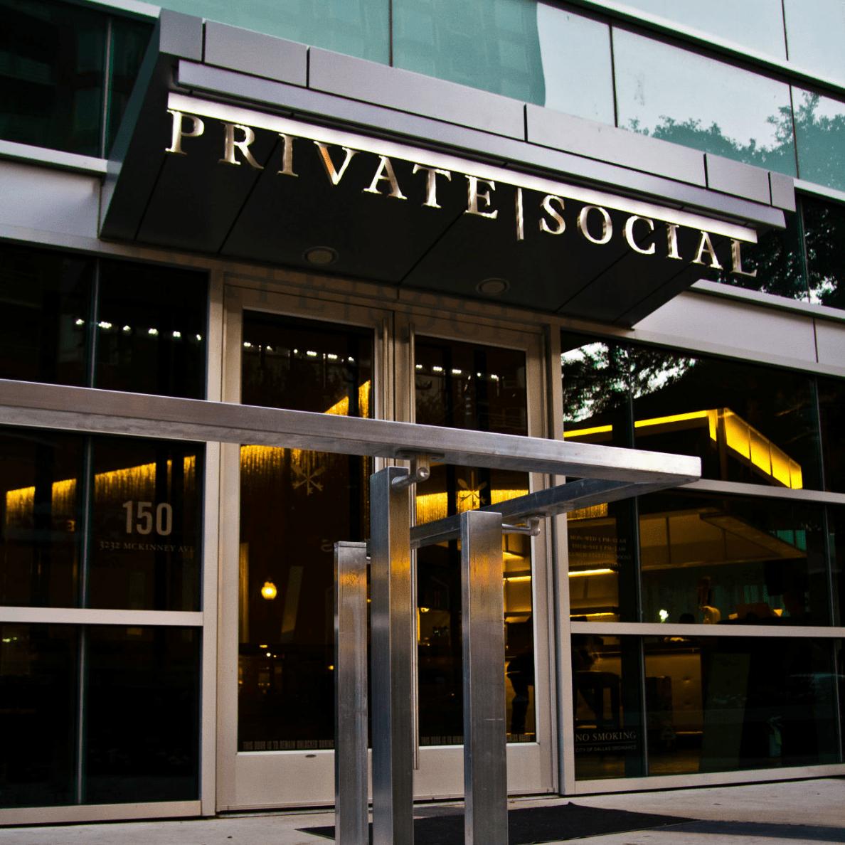 Private Social restaurant in Uptown Dallas