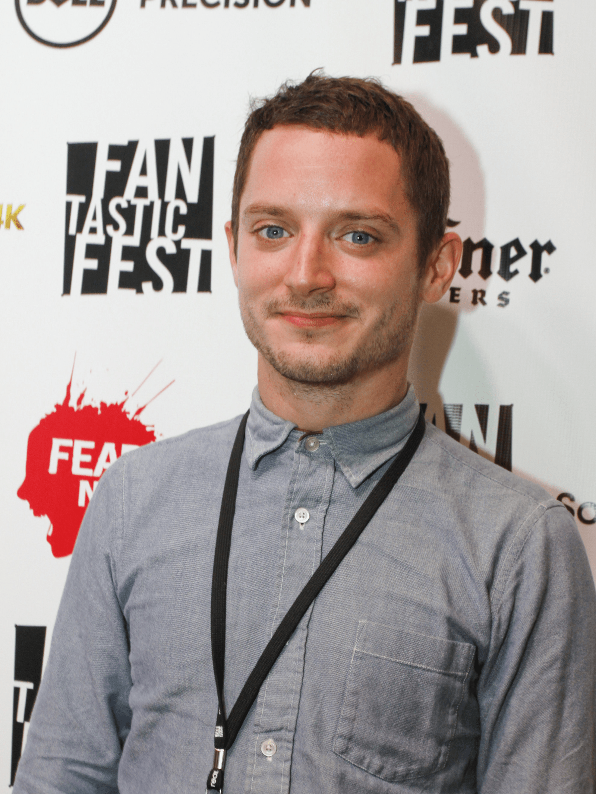 Elijah Wood at red carpet premiere of Grand Piano at Fantastic Fest