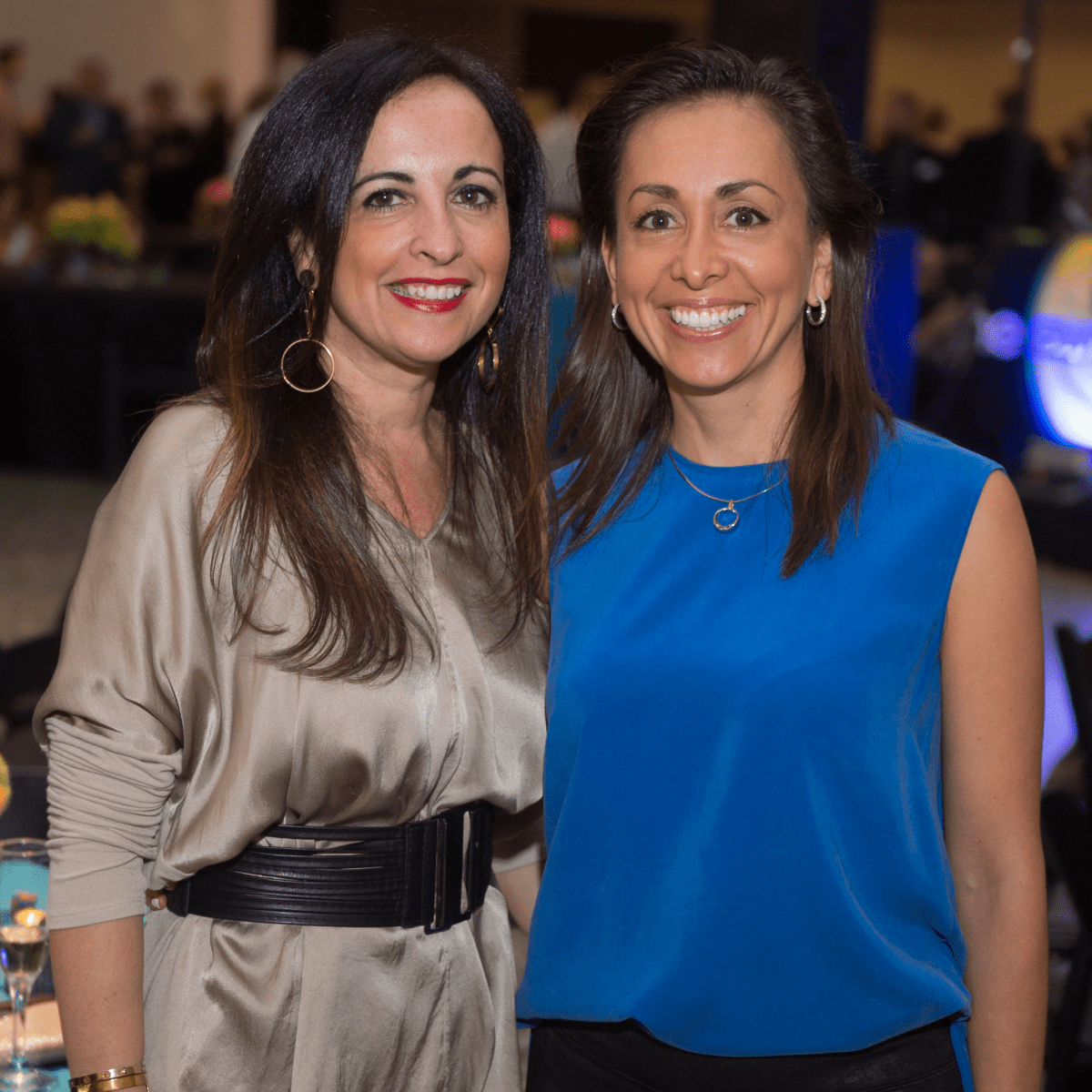 Silvia Salle, Johanna Donson at Glassell Benefit 2017