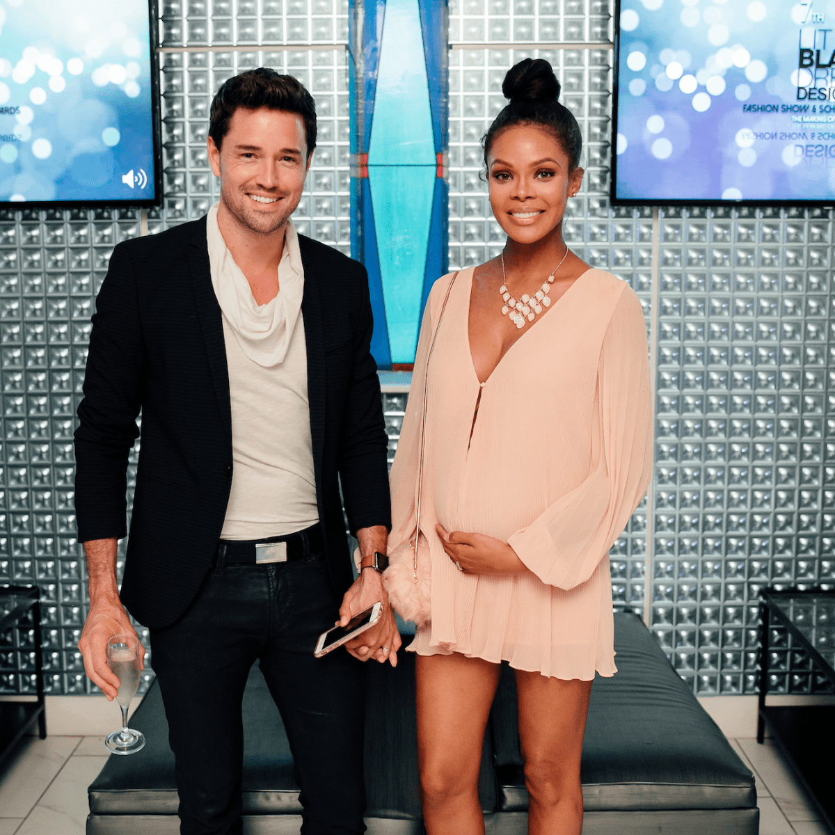 Max Sebrechts, Crystle Stewart at Little Black Dress Designer 2017