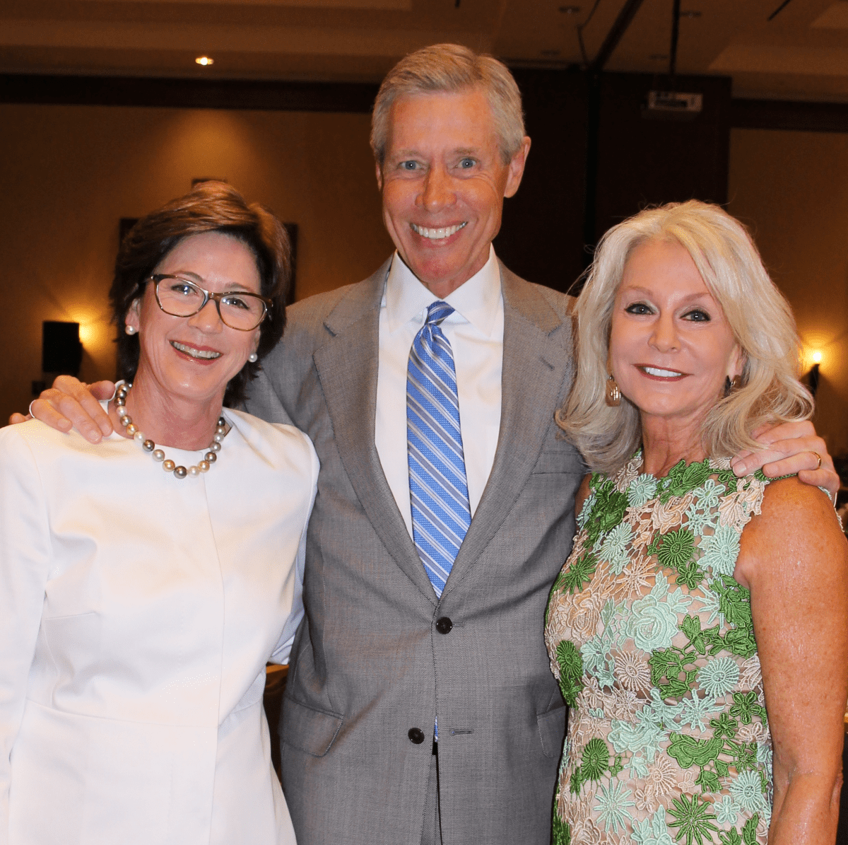 Brookwood luncheon, Stephanie Tucker, Steve Beasley, Nancy Beasley