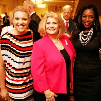Houston, Menninger Clinic Annual Luncheon, May 2016, Laura Bonck, Mary Ellen Perkinson, Dr. Kathy Flanagan
