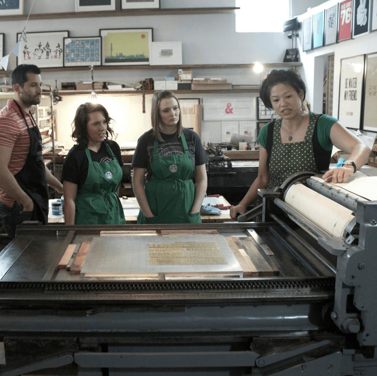 We Are 1976 letterpress class