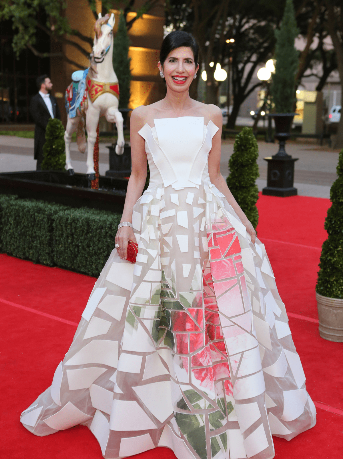 Houston, Opera Ball Gowns, April 2016, Kelli Cohen Fein in Carolina Herrera.
