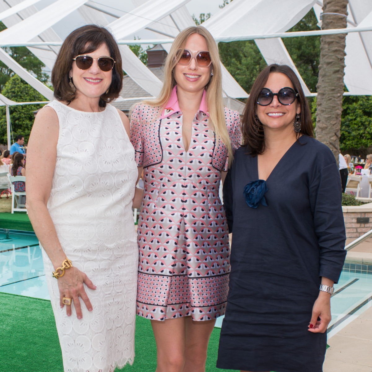 River Oaks Tennis Luncheon, April 2016, Ellie francisco, Lori Sarofim, Alina Garcia