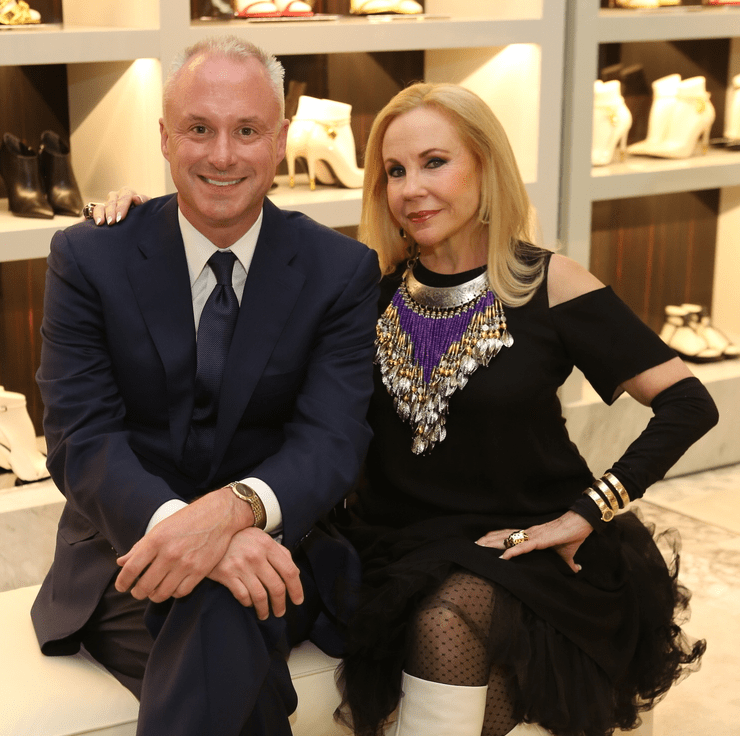 Paul Dickerson, Carolyn Farb at Blue Cure party at Tom Ford