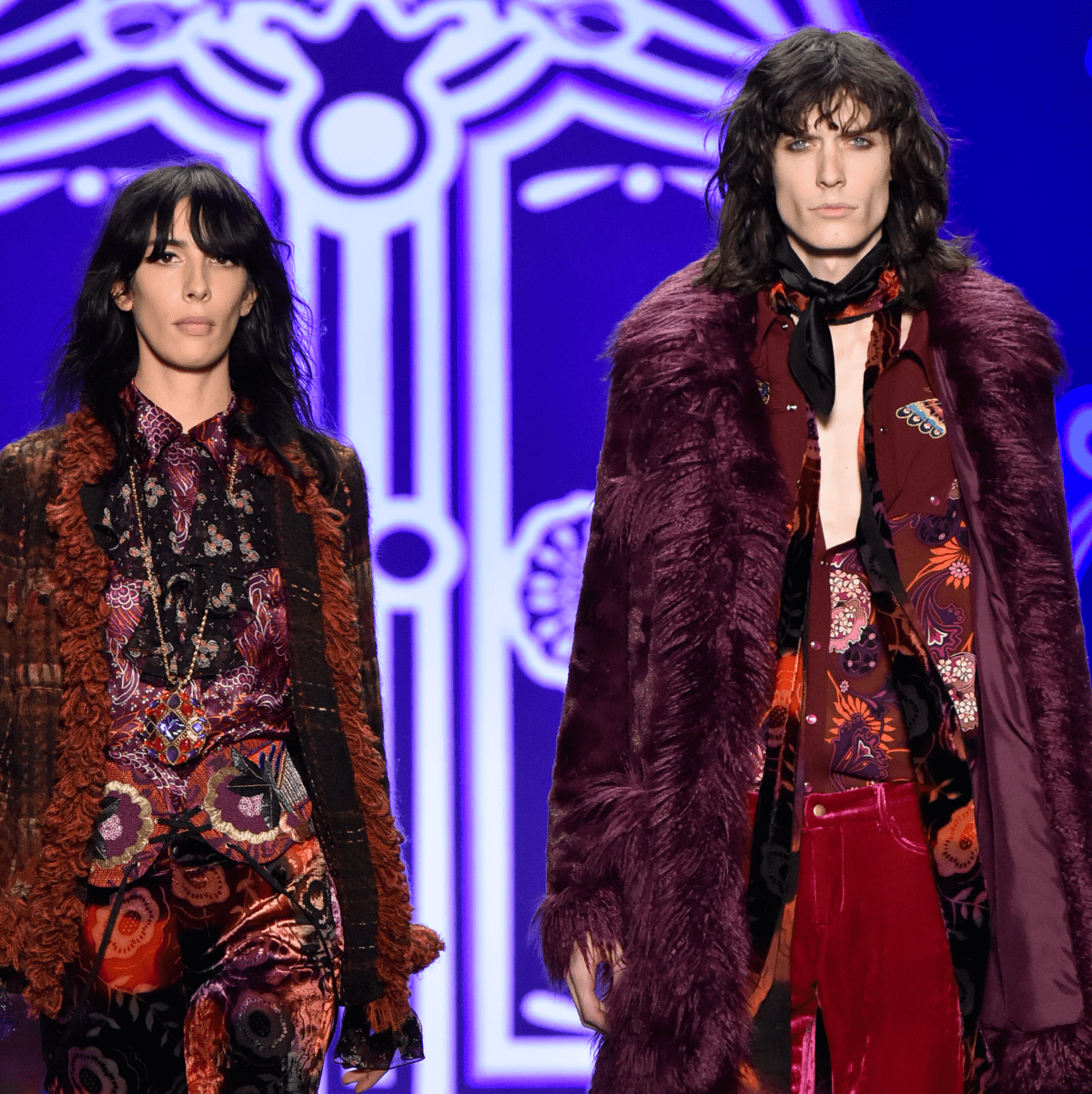 Anna Sui fall 2016 look 1