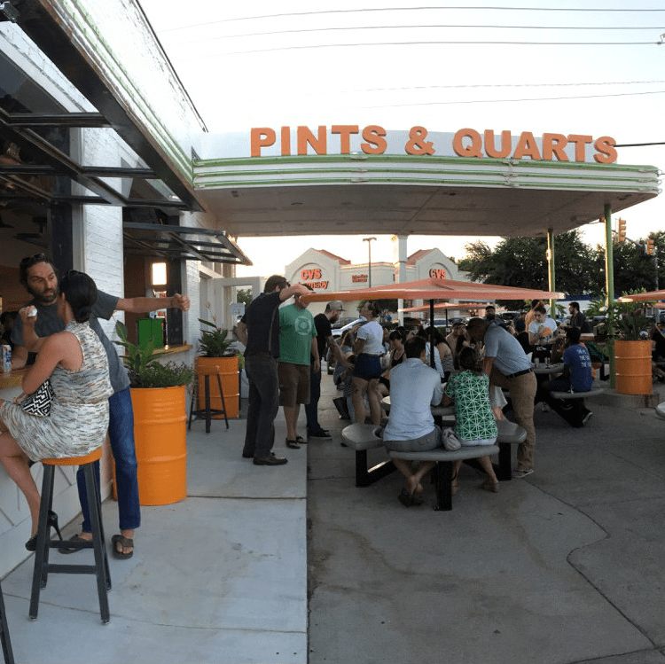 Pints & Quarts patio