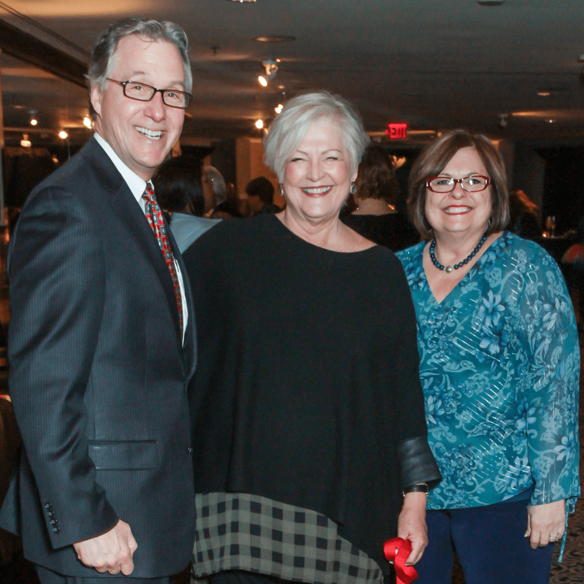 Steven Costello, Shari Koziel, Debbie Costello at Interfaith Ministries brunch
