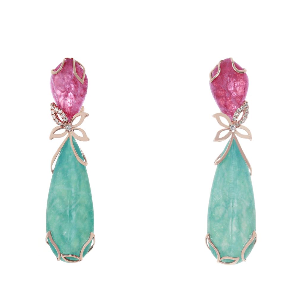 Pratiksha Eva honeysuckle long drop earrings