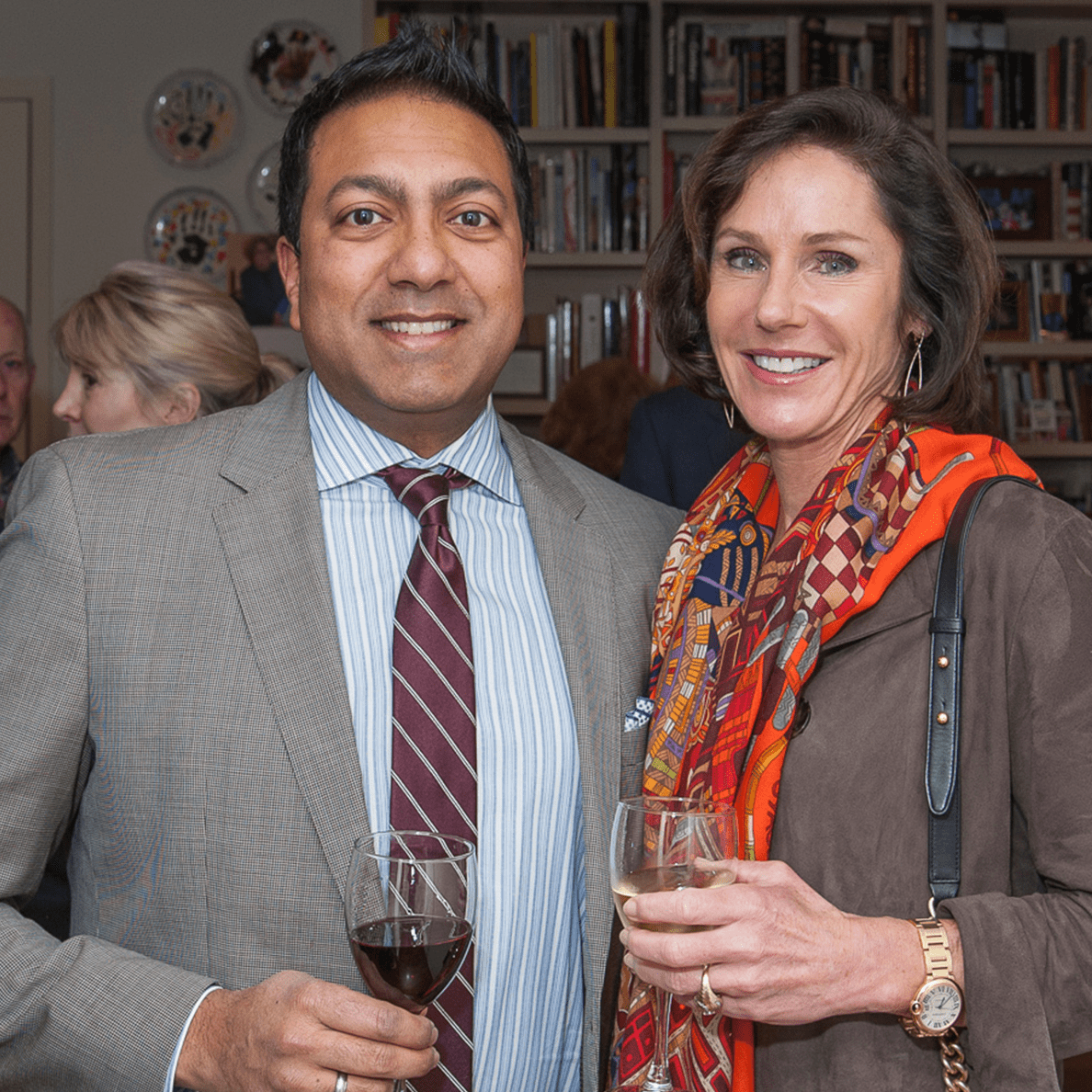 Houston, Da Camera VIP launch event for Sarah's Marcel Proust Project, Ab Sengupta, Heidi Gerger