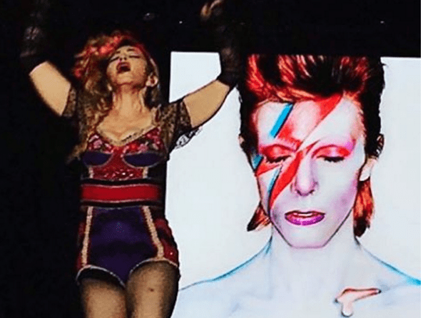 Madonna Rebel Heart Tour David Bowie tribute