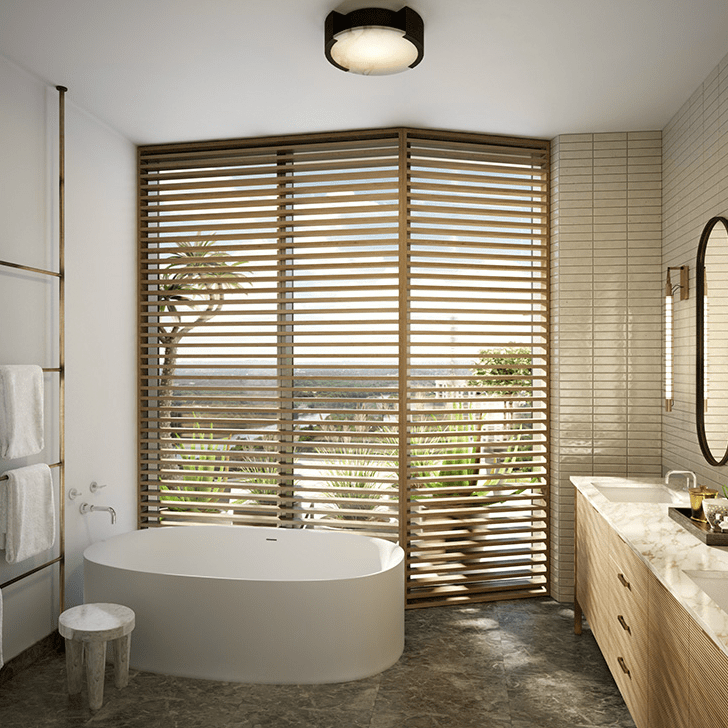 Austin Proper residence bathroom rendering 2015