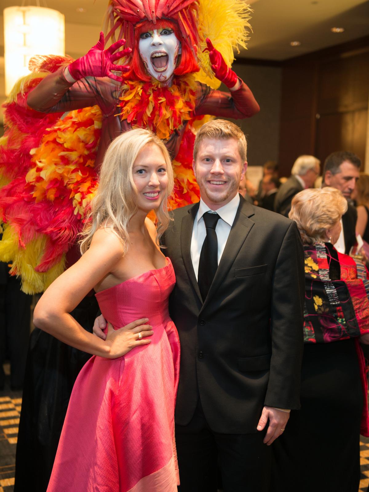 Houston, Pink Door Night of the Phoenix Gala, November 2015, Tina and Zack Frewin