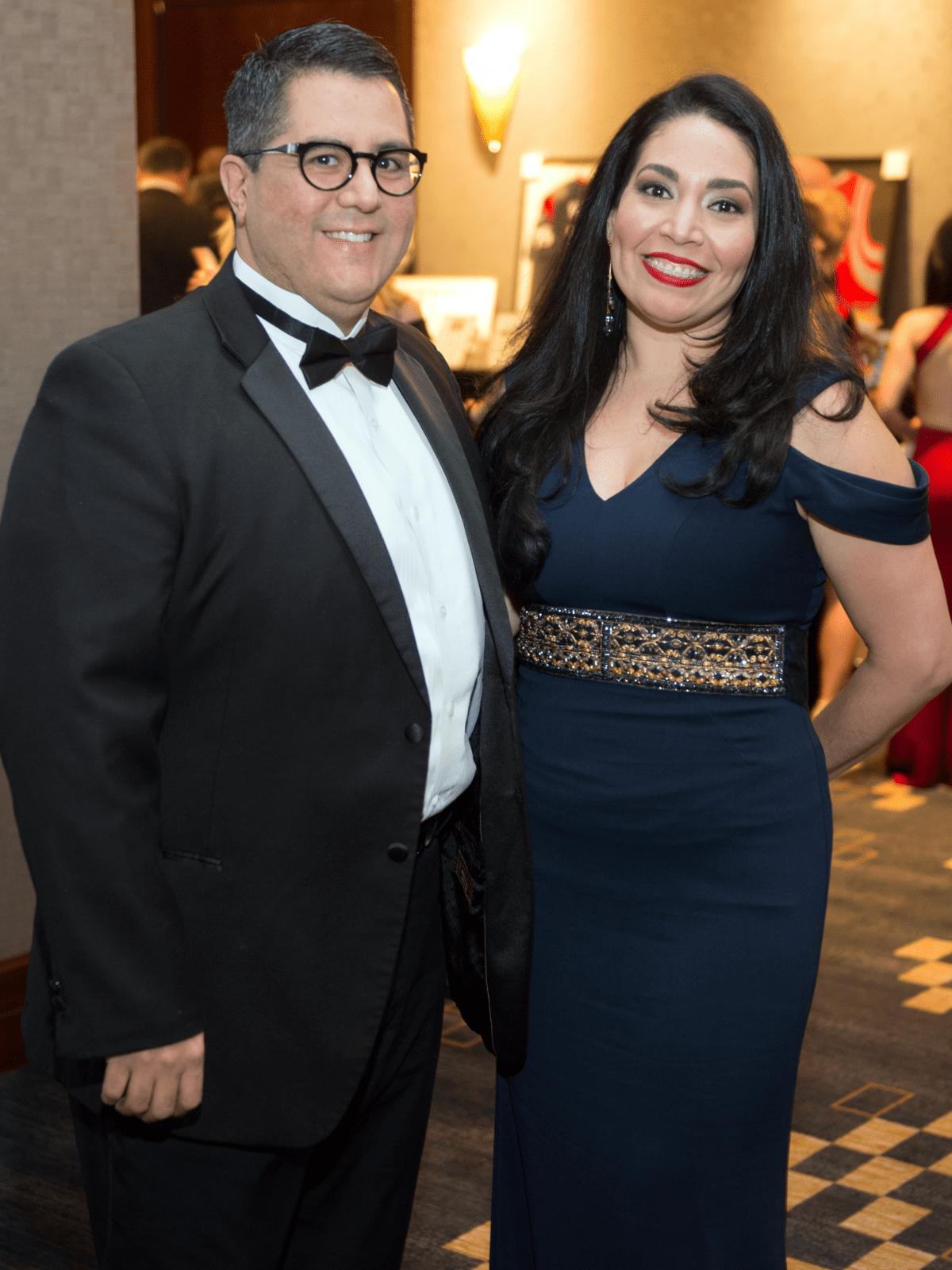 Houston, Pink Door Night of the Phoenix Gala, November 2015, Dr. Roland Maldonado, Enid Sanchez