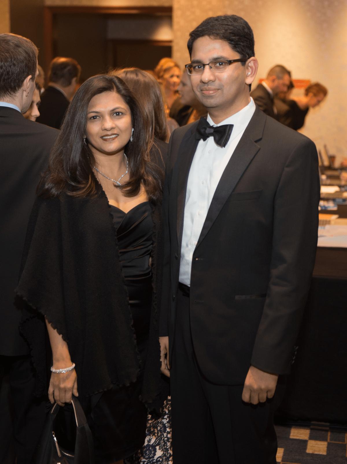Houston, Pink Door Night of the Phoenix Gala, November 2015, Drs. Aparna and Ashish Kamat