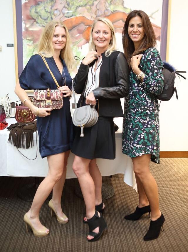 News, Shelby, Heroes & Handbags kick-off, Nov. 2015, Amy Boquist, Natasha Balette, Chay Taylor