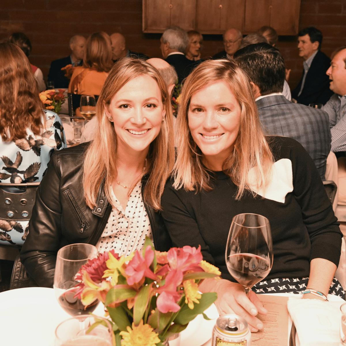 Urban Harvest dinner Maggie Vermillion, left, and Molly Neff