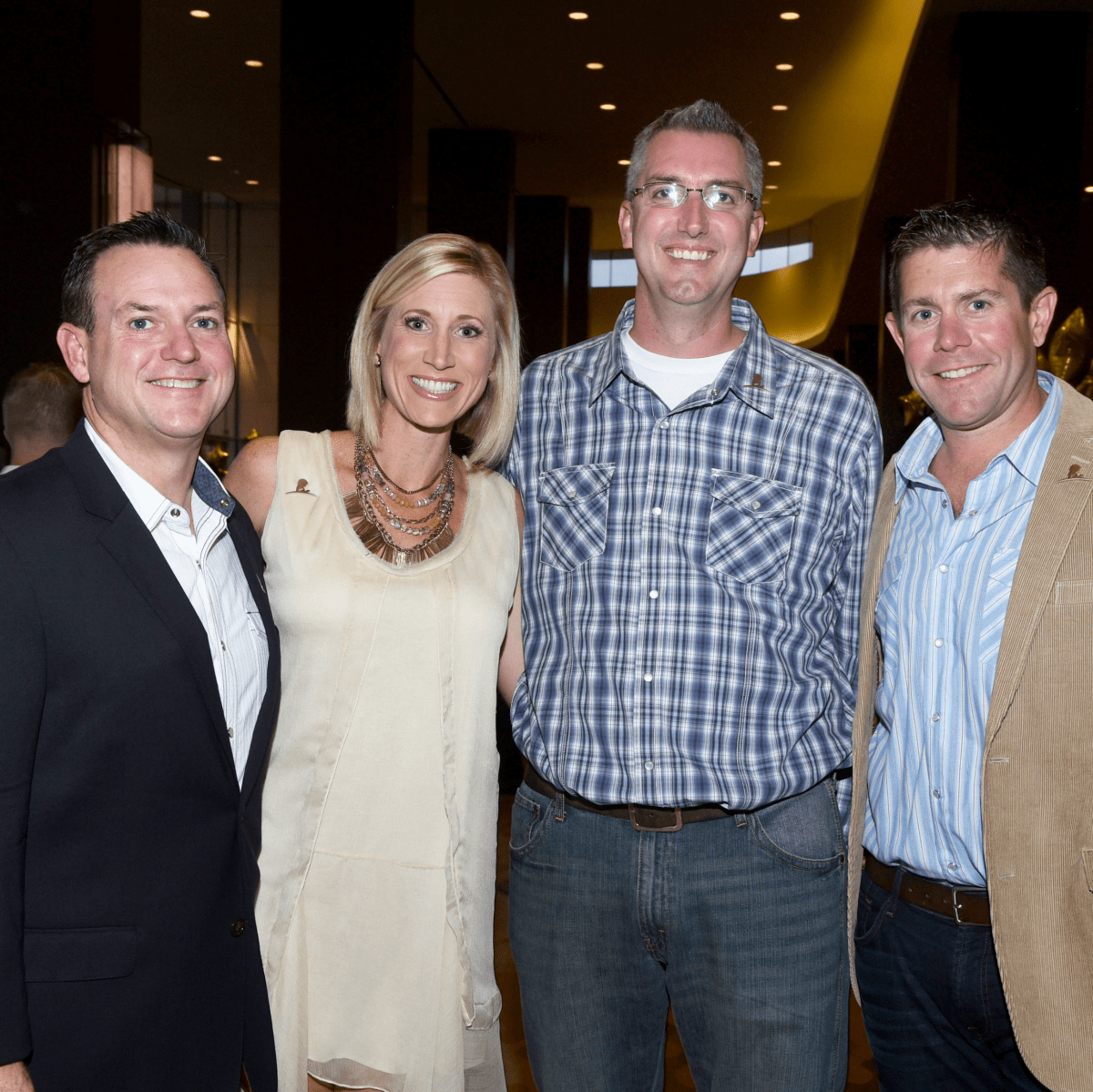 Jeff and Erin King, Jason Wilson, Doug Comings