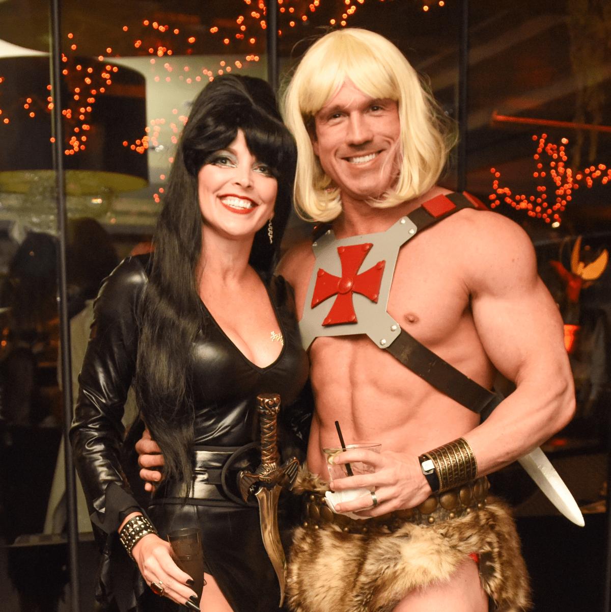 News, Shelby, Hotel ZaZa Halloween, Oct. 2015 Trini and Jeff  Hurley