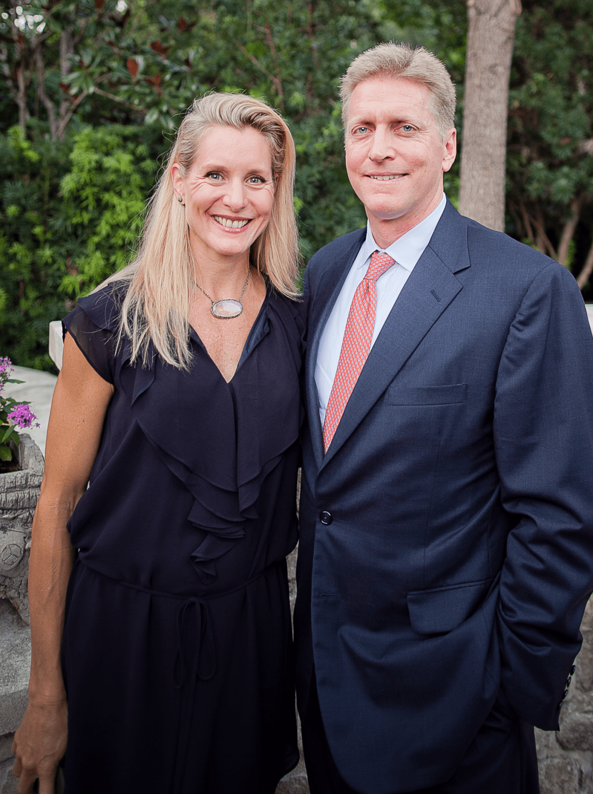 Houston, Robert Draper book signing, September 2015, Paula and Jeff Paine