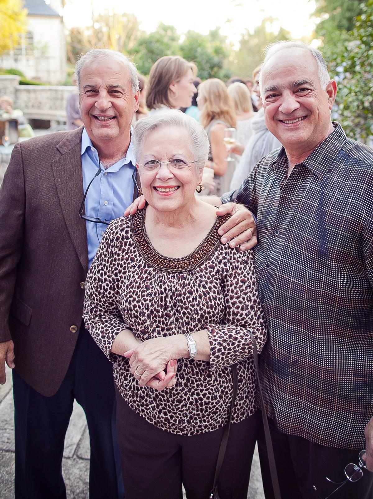 Houston, Robert Draper book signing, September 2015, Luke Mandola, Rose Mandola and Tony Mandola