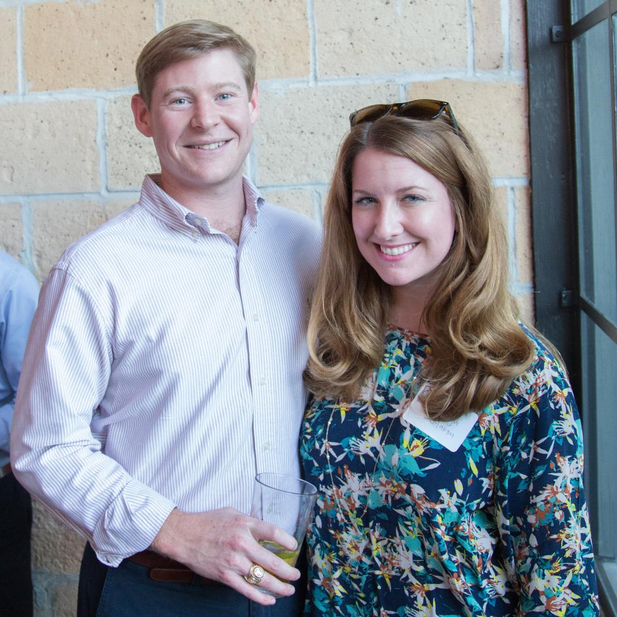 Houston, Casa de Esperanza YP Happy Hour, September 2015, John Vivrett and Jaclyn Martin