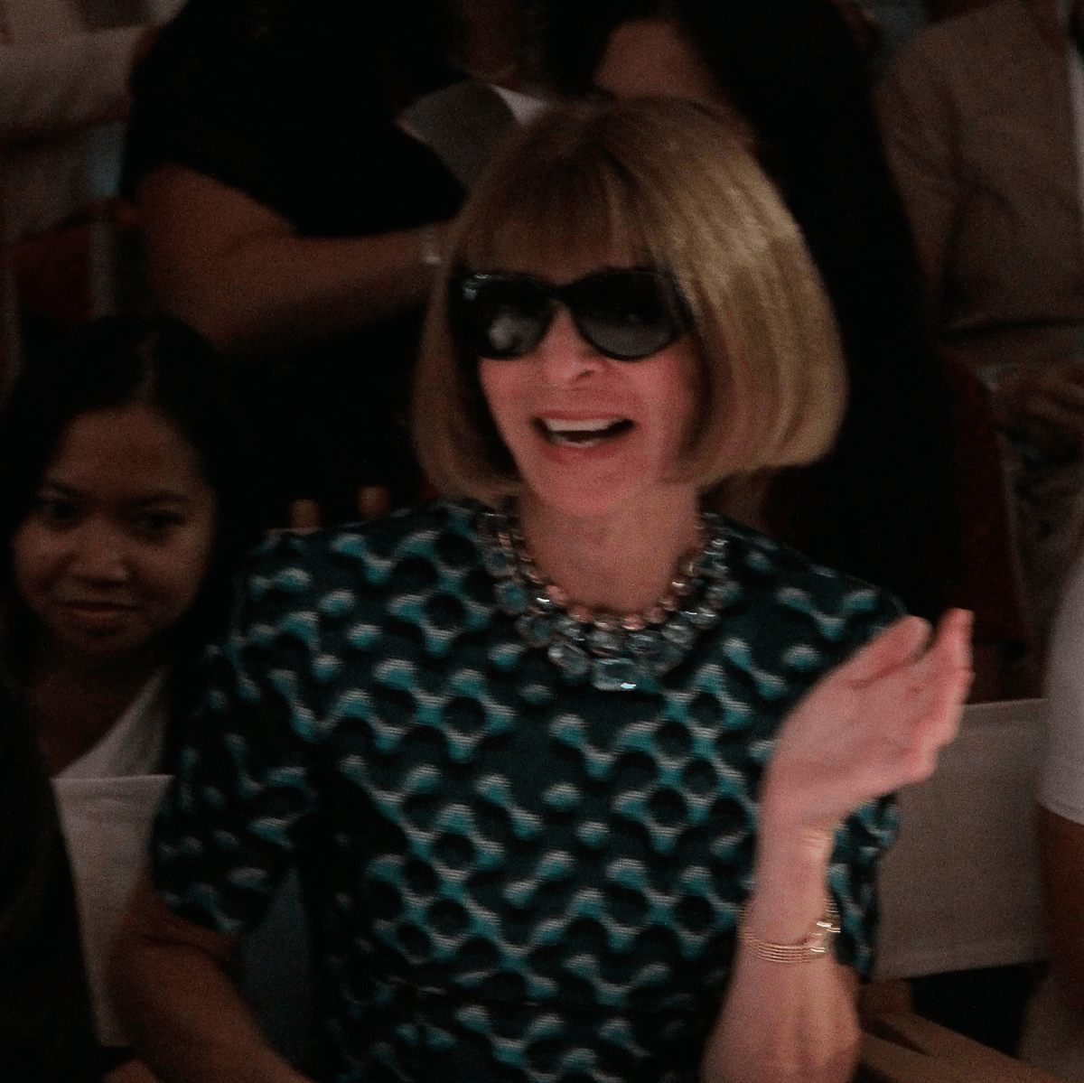 Drake and Anna Wintour laugh at HSN Serena Williams Signature fashion show